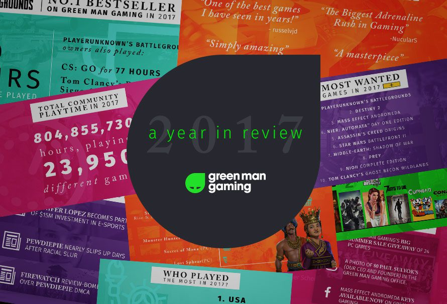 Green Man Gaming's 2017 Year in Review: Top Bestsellers, Most Wanted Games and Community Playtime
