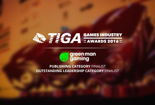 Green Man Gaming and The Bunker finalists in TIGA Awards 2016
