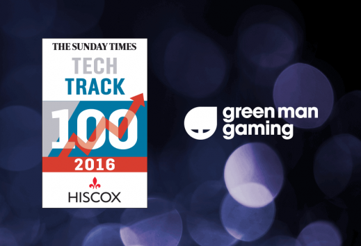 Green Man Gaming ranked in 2016 Sunday Times Tech Track 100