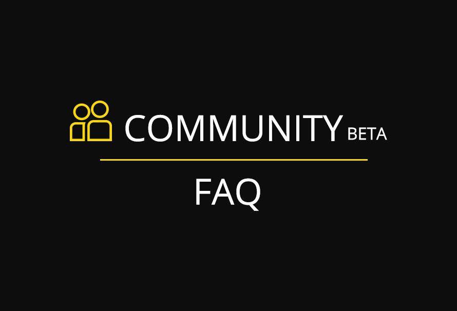 New Community platform FAQ