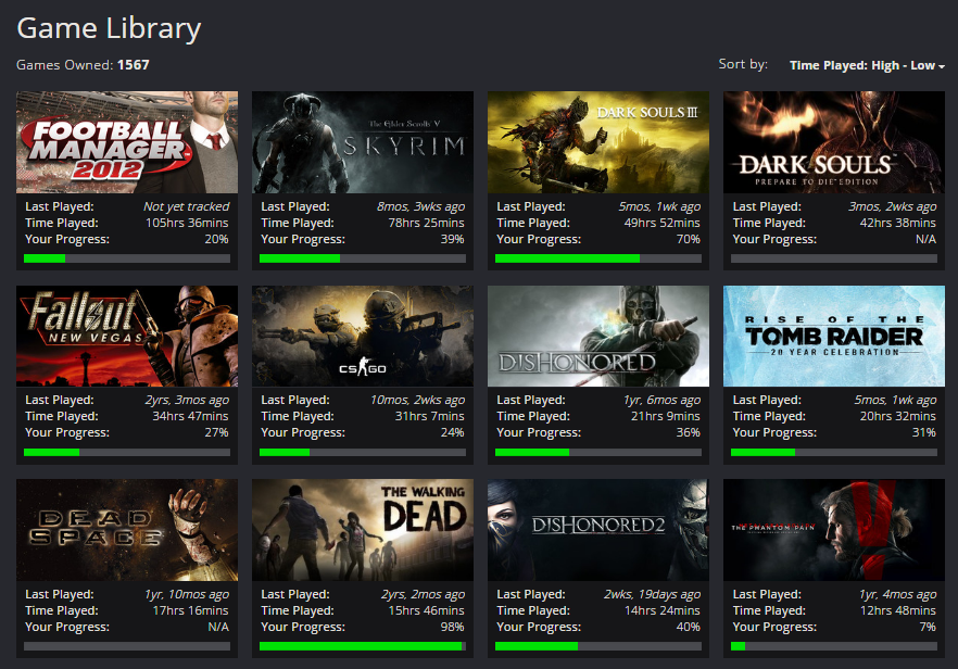 GMG game Library