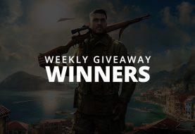 #WeeklyGiveaway Winners - Sniper Elite 4!