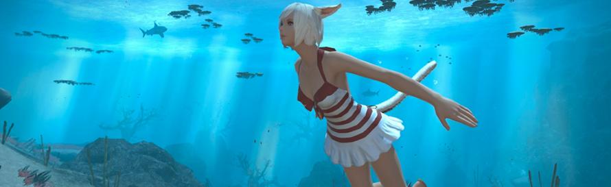 Final Fantasy XIV: Stormblood Swimming