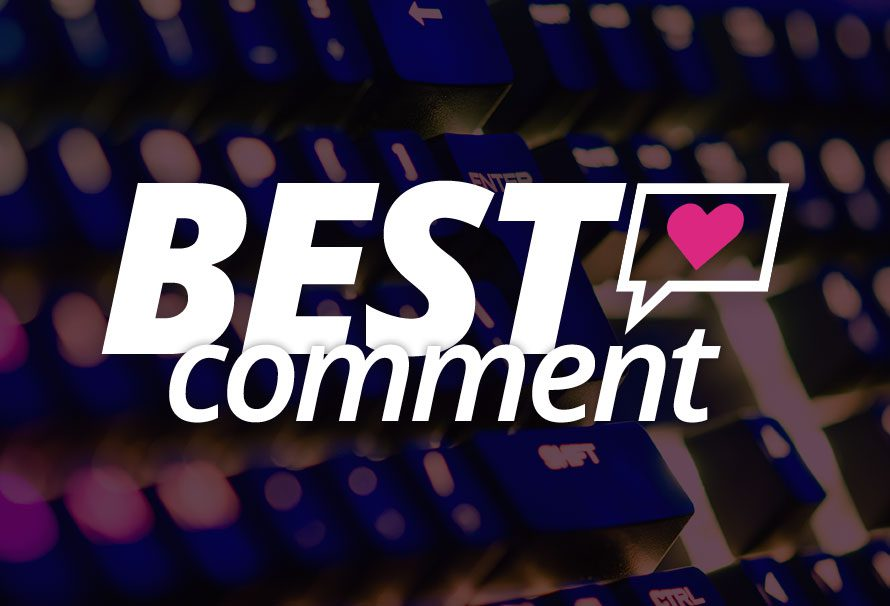Best Comment of the Week! – 08/12