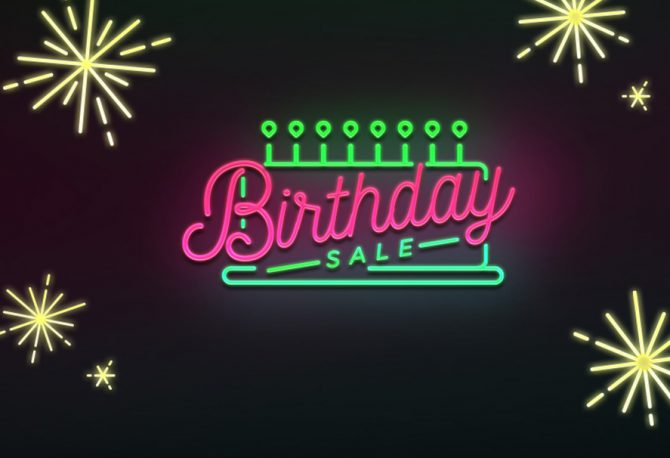 Happy Birthday To Us! It's our 8th Birthday Sale!
