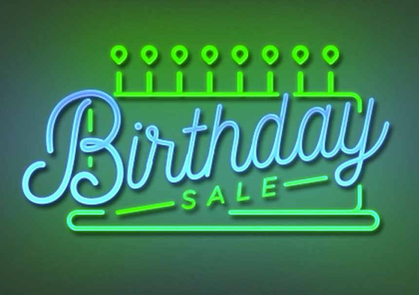 Updated: Happy Birthday To Us! It's our 8th Birthday Sale!