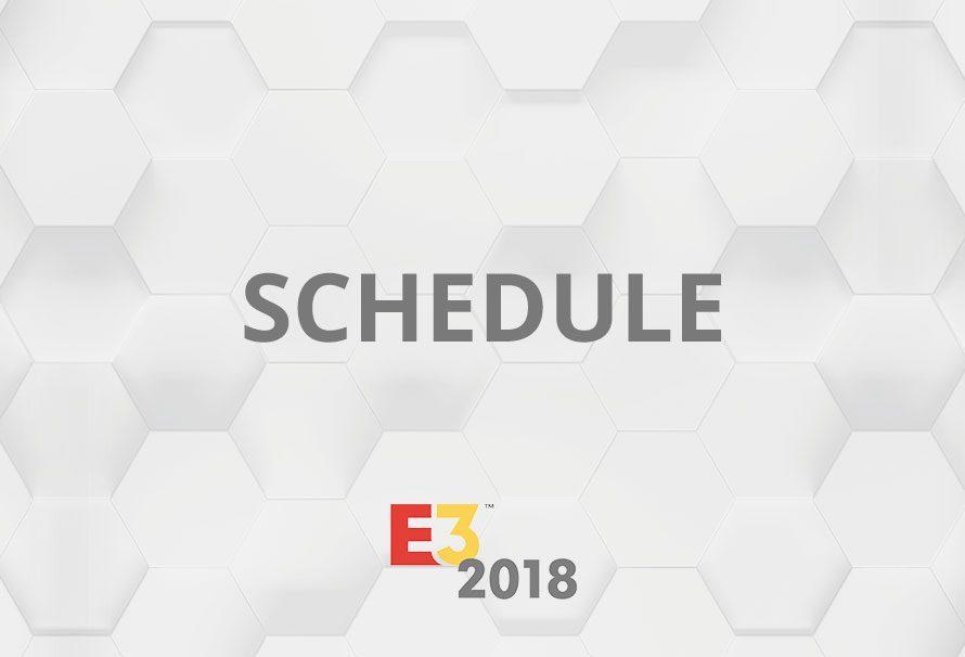 E3 2018 Conference Schedule