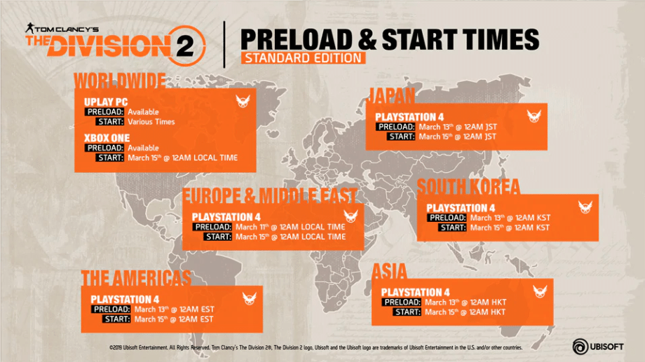 The Division 2 Preload and Launch