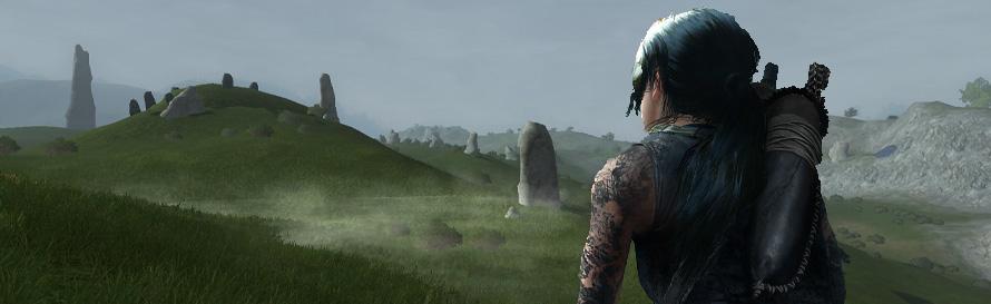 Lara Croft at the Barrow Downs
