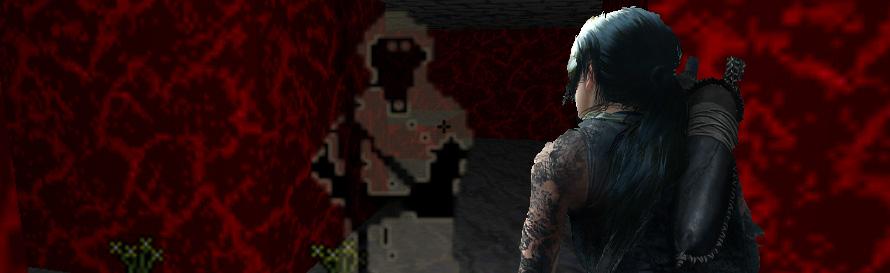 Lara Croft at the Tomb of Praecor loth