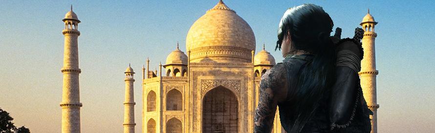 Lara Croft at the Taj Mahal