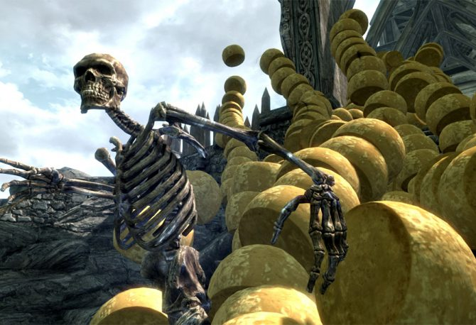 Is it possible to carry a cheese wheel across Skyrim without taking damage?